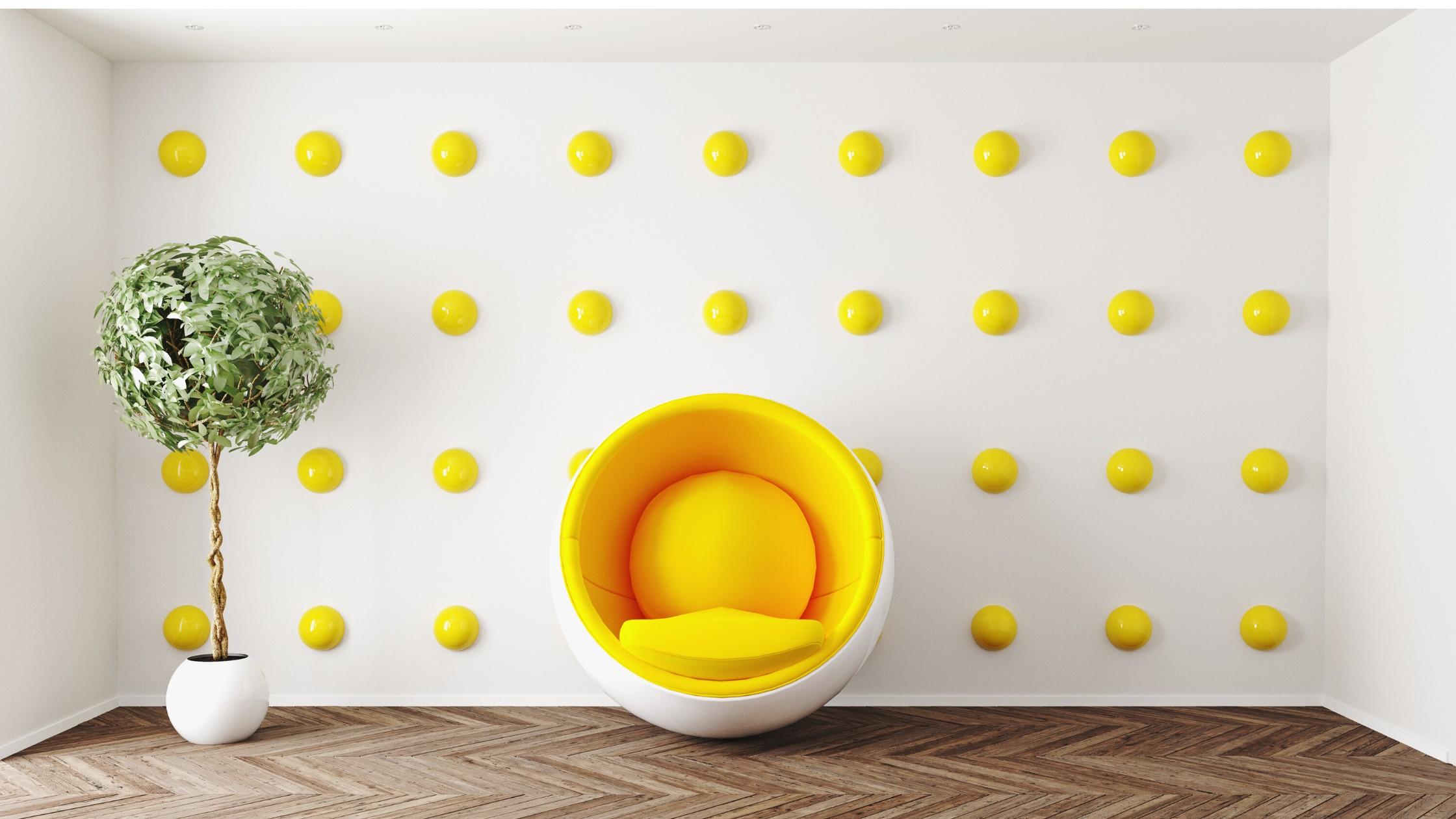 Yellow + White Decor & Design.
