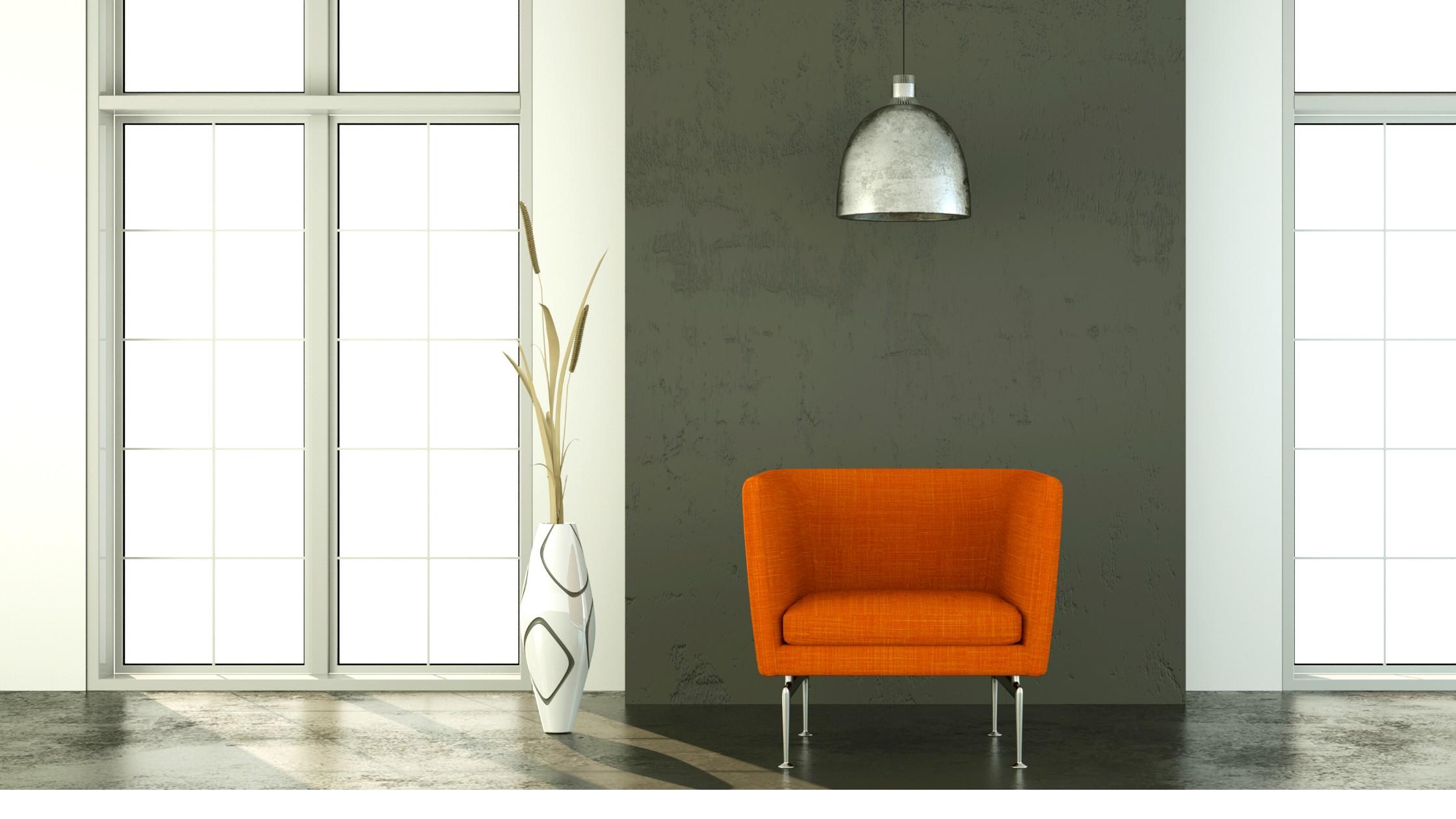 Charcoal + Brunt Orange Decor & Design.