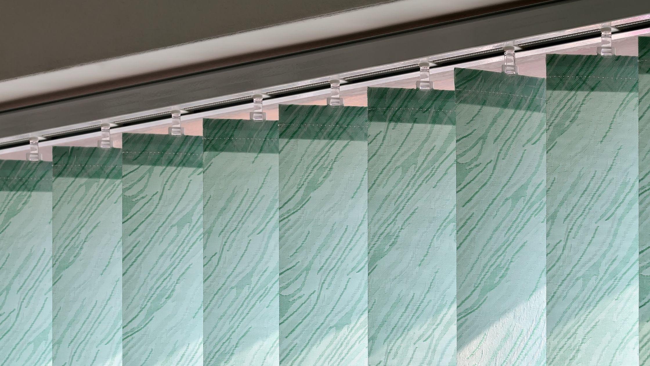 Beautiful greenish color vertical blinds